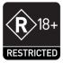 Classification marking - Restricted R18+ (Square)
